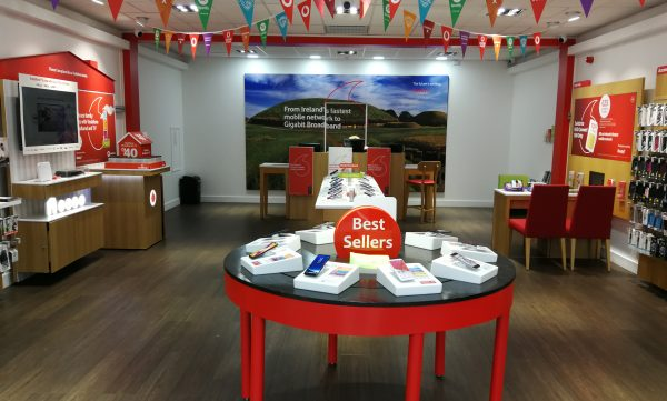 Vodafone Ashbourne Store Interior