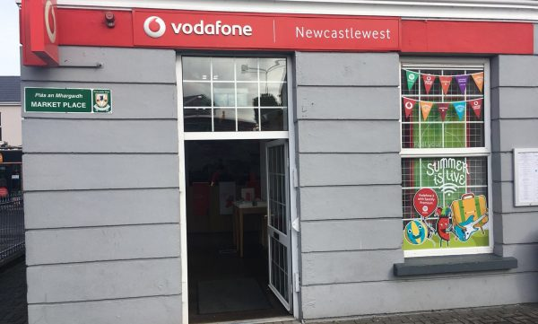 Vodafone Newcastle West Store Exterior