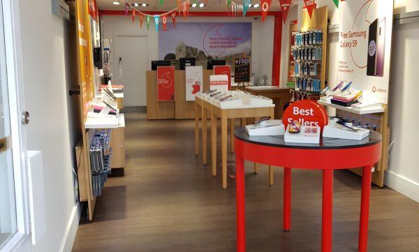 Vodafone Roscommon Store Interior