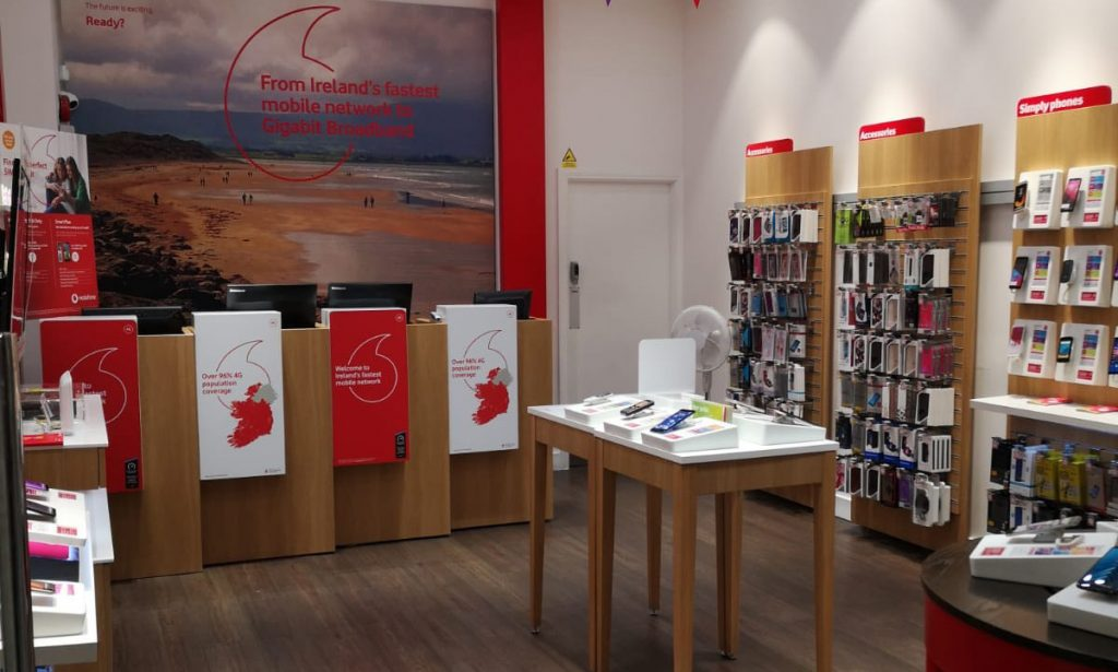 Vodafone Sligo Store Interior