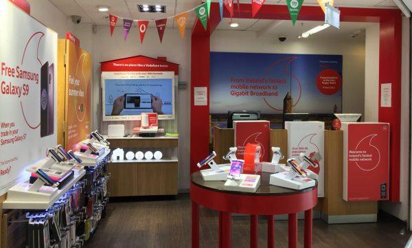 Vodafone Tullamore Store Interior